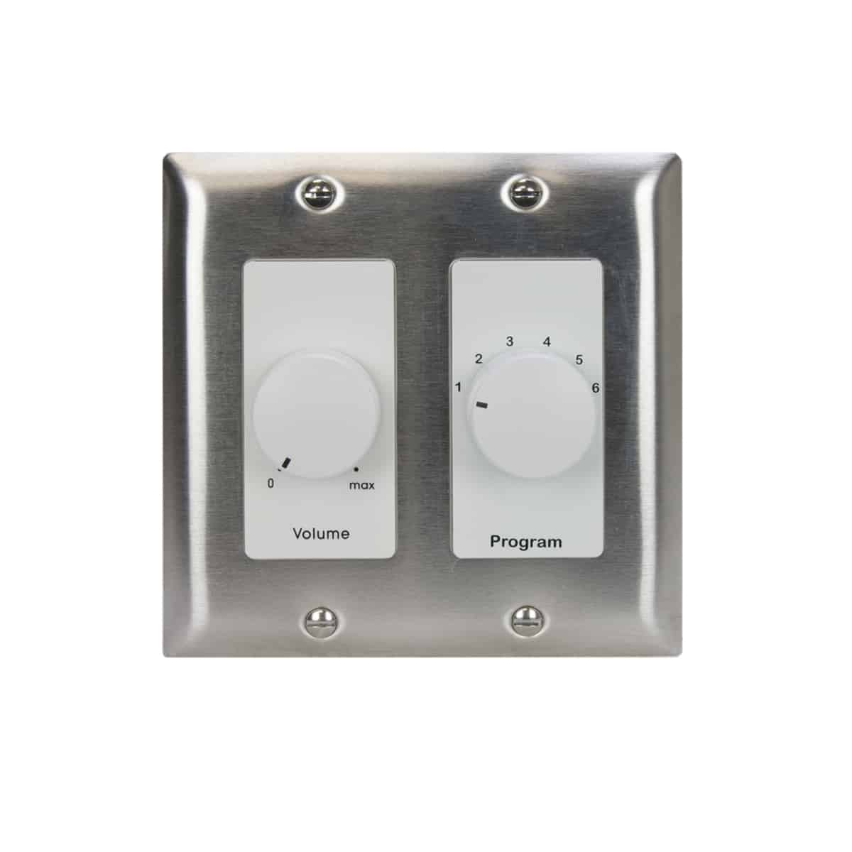 volume control with wall plate