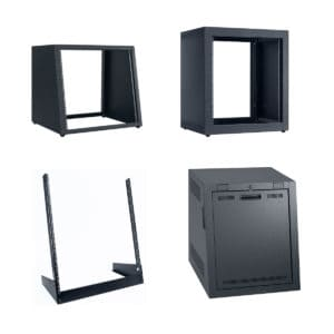 racks and cabinets made in the U S A  for 19 inch equipment