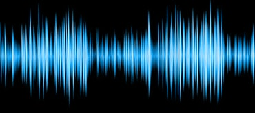 colorful waveform isolated on black