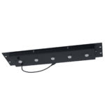 Rackmount panel with lights